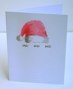 Christmas Cards Printed with Watercolor Designs Set by annagguiles