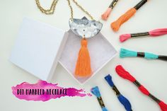 DIY Marbled Necklace