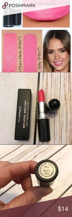 MAC Lipstick Matte Hot Pink SILLY New in Box Authentic MAC  MAC Cosmetics Makeup Lipstick