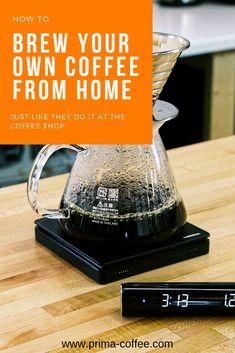 How to brew your own coffee at home, just like they do it at the coffee shop. #homebarista #pourovercofee #manualbrewcoffee #manualbrewing