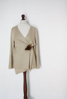 Knit sweater comfortable clothing beige sweater by KnitwearFactory, $52.00