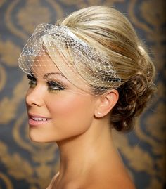 Mini Birdcage Veil Wedge Veil Bird Cage Veil Bridal Veil Wedding Veil Small Veil - Made to Order - Many colors available