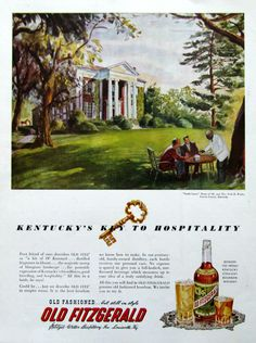 Old Fitzgerald ad 1951, Castle Lawn (from #RetroReveries)