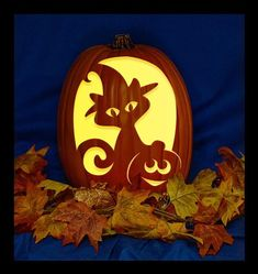 Pet Costume - Hand Carved on a Foam Pumpkin - Plug in light with Switch included.