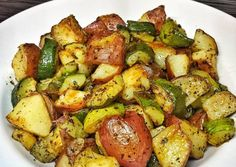 Roasted Zucchini and Red Potatoes Recipe -  Very Tasty Food. Let's make it!