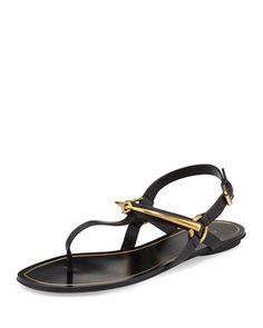 45558de565fd Gucci Tess Horsebit Thong Sandal