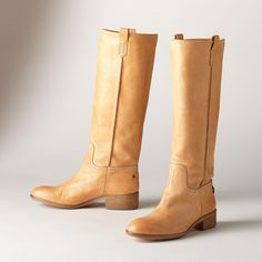 "CENTURY BOOTS -- Enjoy the style and tradition of Tuscany in our artisan-made boots in buttersoft leather. Italy. Exclusive. Euro whole sizes 36 to 41. 36 (US 6.5), 37 (US 7.25), 38 (US 8), 39 (US 8.75), 40 (US 9.5), 41 (US 10.25). 1-1/3"" heel."