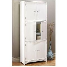 Home Decorators Collection Oxford White Storage Cabinet 6491100410 at The Home Depot - Mobile Home Storage Cabinets, Home Depot Cabinets, Linen Storage Cabinet, Home Depot Kitchen, Hallway Storage, Living Room Storage, Door Storage, Kitchen Storage, Bathroom Cabinets