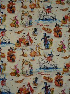 Halloween Fabric / Children /  Victorian  par trinketsintheattic, $11,00