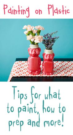 Great crafting tips for painting on plastic! LINK -->> http://mvb.me/s/35f167
