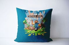 Minecraft pillow Minecraft bedding video game by ColorAmazing