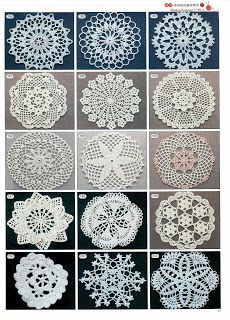 Crochet patterns for a lovely small doily