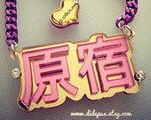 HARAJUKU laser cut swarovski necklace