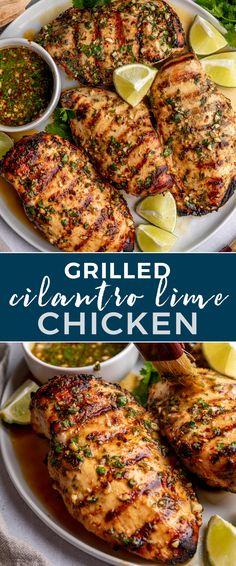 Grilled Chili Cilantro Lime Chicken | Gimme Delicious