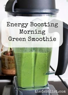 Energy Boosting Morning Green Smoothie   1/2 avocado 4 leaves kale, stems removed 1/2 apple 1 handful loose spinach 1 cup coconut water 4-5 fresh mint leaves