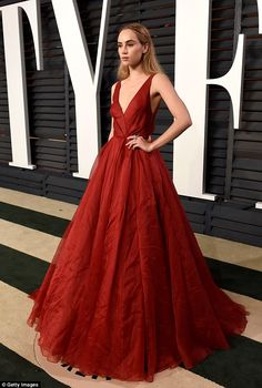 Less is more: The British model effortlessly turned heads in the designer gown, which perf...