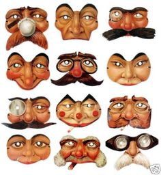 Sort of Creepy...but I like them!!VICTORIAN PAPER MASK Tadcaster Collection 24 masks UK