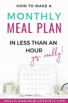 Monthly Meal Plannin