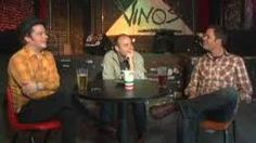 jason and burt at Vino's for an Interview