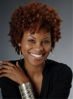 Red Curly Short Synthetic Hair Capless Wigs Less Than 6 Inches
