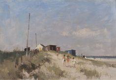 Edward Seago | Beach Huts, Norfolk
