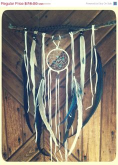 HARVEST SALE OOAK bohemian dream catcher. green by SpiritTribe, $70.20