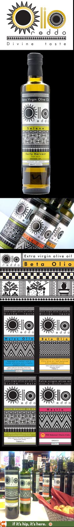 Olio Reddo Olive Oils and their wonderful branding and label designs by Create-A-Brand.