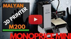 #130  Malyan M200 Monoprice Mini 3D printer unbox, review and test 3d Printer, Mini, Prints, Printed, Art Print
