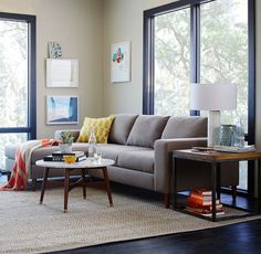 west elm sectional - furniture without corners on redsoledmomma.com