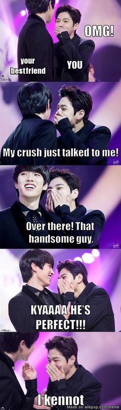 When your crush talked to you | allkpop Meme Center