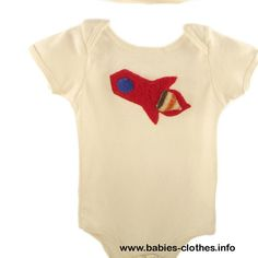 Onesie - Short Sleeve Baby Wear with Applique - Surprise Me! - http://www.babies-clothes.info/onesie-short-sleeve-baby-wear-with-applique-surprise-me.html