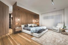 This is a Bedroom Interior Design Ideas. House is a private bedroom and is usually hidden from our guests. Much of our bedroom … Warm Bedroom, Bedroom Sets, Home Bedroom, Bedroom Furniture, Home Interior, Modern Interior Design, Modern Interiors, Decoration Bedroom, Wood Panel Walls