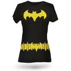 $19.99 Cape not included.  Batgirl Costume Babydoll  We're gonna guess you're Barbara Gordon underneath this shirt. Maybe you're Helena Bertinelli or Cassandra Cain. But we bet you're Gordon, because we know you. You already have some of Oracle's skill set. Or maybe *you're* the next Batgirl. We won't tell.