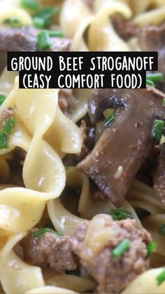 Meat Recipes, Pasta Recipes, Real Food Recipes, Dinner Recipes, Dinner Ideas, Pork And Beef Recipe, Ground Beef Stroganoff, Hamburger Casserole, Mushroom Recipes