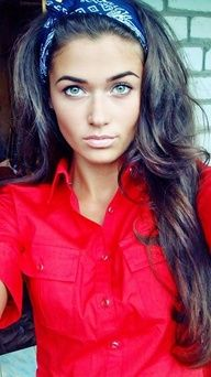 Beautiful thick brunette hair. #food