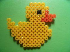 patito de hama beads  hama beads planchado
