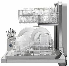 WDF520PADM Whirlpool Dishwasher with AnyWare Plus Silverware Basket - Monochromatic Stainless Steel Best Dishwasher, Black Dishwasher, Whirlpool Dishwasher, Built In Dishwasher, Dishwasher Magnet, Kitchen On A Budget, Kitchen Stuff, Kitchen Ideas