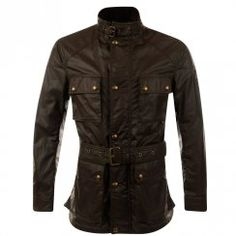 Belstaff Roadmaster Long Olive Waxed Motorcycle Jacket. Available now at www.brother2brother.co.uk