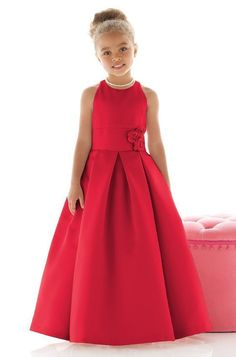 Shop Dessy Flower Girl Dress - in Matte Satin at Weddington Way. Find the perfect made-to-order flower girl dress for the little girl in your wedding. Fashion Kids, Little Girl Fashion, Party Fashion, The Dress, Baby Dress, Dress Girl, Little Girl Dresses, Girls Dresses, Red Flower Girl Dresses