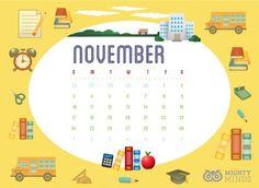 November Desktop Freebie 9 And 10, Desktop, November, Mindfulness, Articles, Map, Education, Maps, Educational Illustrations