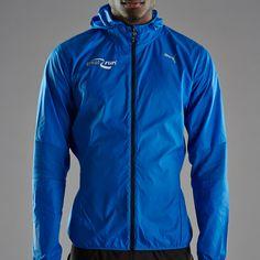 52a54fee1598 Mens Clothing - Puma Great Run PR Pure Hood Lightweight Jacket - Strong Blue