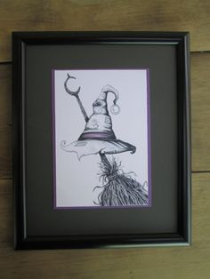 Witches Broom and Hat Black and White Original Design Pen and Ink Drawing Fine Art Print Halloween Print Witch Art Spooky Artwork by DreanasDragonflyPie on Etsy