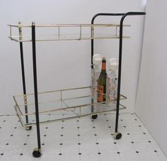 Vintage Mid Century / Bar Cart / Serving Cart / by DaveysVintage. $450.00, via Etsy.