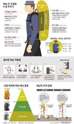 등산용 배낭, 잘 꾸리고 제대로 메는 법 - 조선닷컴 인포그래픽스 - 인터랙티브 > 라이프
