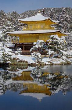 "lifeisverybeautiful: ""Kinkaku-Ji Temple, Kyoto, Japan by Takae Tujimoto """