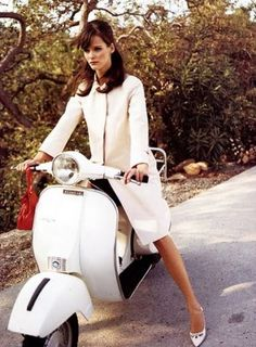 Riding around Italy on a Vespa, love the pure white