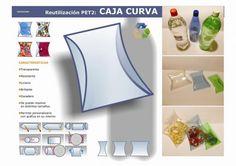 Scatole realizzate con bottiglie di PET - Embalagens Caixas com garrafas PET
