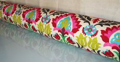 Special Order - 54 Inch Bolster Pillow in Santa Maria Desert Flower Fabric by Waverly. $124.99, via Etsy.