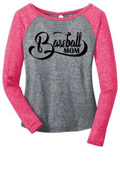 Baseball Mom Long Sleeve Raglan Tee by AdSpecial on Etsy (Fav one seen by far)