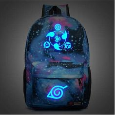 FREE SHIPPING Naruto Luminous Rucksacks Hokage School Travel laptop Bag Canvas Backpack